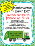 Kindergarten Earth Day Literacy and Science Activities