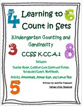 Kindergarten Math Counting and Cardinality-Learning to Cou