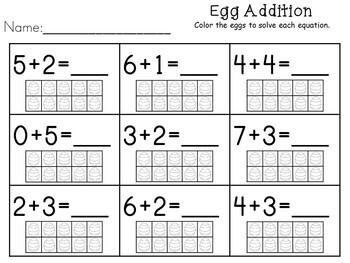 Kindergarten Easter Activities - Math and Literacy - NO PREP