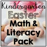 Kindergarten Easter No Prep Literacy & Math Printables