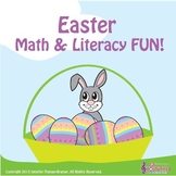 Kindergarten Easter Math & Literacy Fun / Common Core - Al