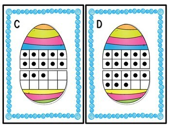Kindergarten Easter Math Centers - 8 Math Centers