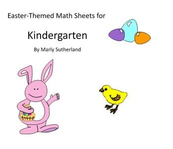 Kindergarten Easter Math Sheets