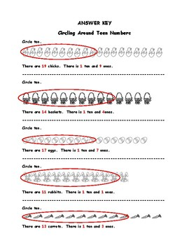 Kindergarten Easter Math for Common Core