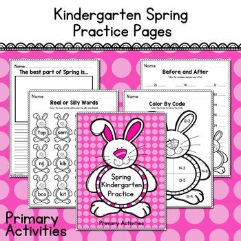 Kindergarten Spring Practice Pages