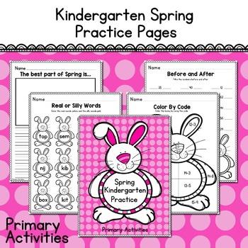 Kindergarten Spring Practice Pages
