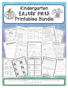 Kindergarten Easter & Spring Math Printables Bundle