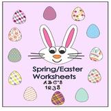 Kindergarten Easter/Spring worksheets