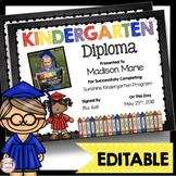 Kindergarten Diplomas - EDITABLE - Graduation - Chalkboard - Personalize