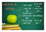 Kindergarten Editing Checklist