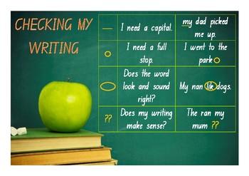 Kindergarten Editing Checklist