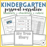 Kindergarten Personal Narrative Editing + Revising Writing Checklist + Rubrics