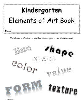 Kindergarten Elements of Art Book