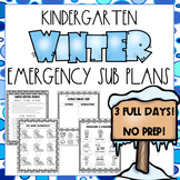 Winter Emergency Sub Plans - Kindergarten