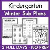 Emergency Sub Plans | Kindergarten | Winter