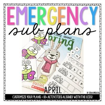 Kindergarten Emergency Sub Plans {April}