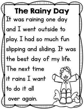Kindergarten Emergency Sub Plans April