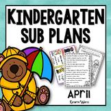 Kindergarten Sub Plans April
