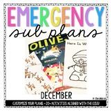 Kindergarten Emergency Sub Plans {December}