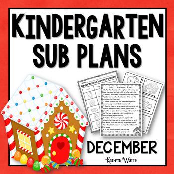 Kindergarten Sub Plans December
