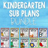 Kindergarten Sub Plans Bundle
