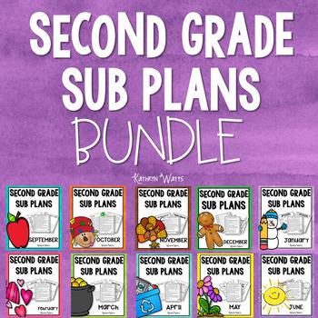 2nd Grade Emergency Sub Plans Bundle