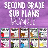2nd Grade Emergency Sub Plans Growing Bundle
