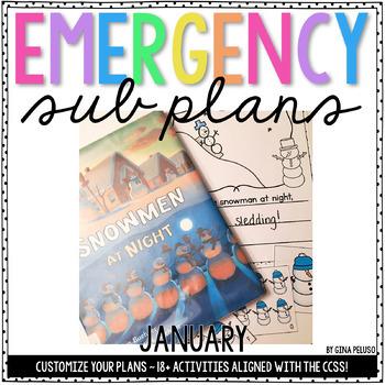 Kindergarten Emergency Sub Plans {January}