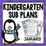Kindergarten Sub Plans January