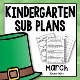 Kindergarten Sub Plans March