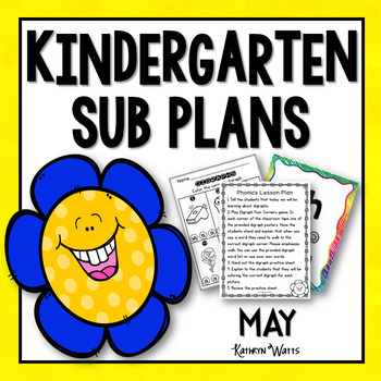 Kindergarten Emergency Sub Plans May