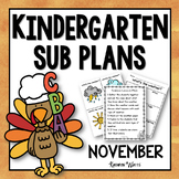 Kindergarten Sub Plans November
