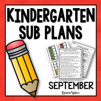 Kindergarten Sub Plans September