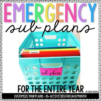Kindergarten Emergency Sub Plans {The Bundle}