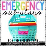 Kindergarten Emergency Sub Plans {The Bundle}