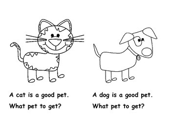 Kindergarten Emergent Reader {3 leveled versions} For Pet Unit: What Pet to Get?