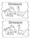 Kindergarten Emergent Reader Book Dinosaurs