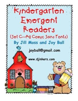 Kindergarten Emergent Readers Set CC: Comic Sans Font