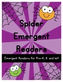 Kindergarten Emergent Readers {Spiders}