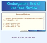 Kindergarten:  (End Of The Year Music Concept Review) -Kodaly Based