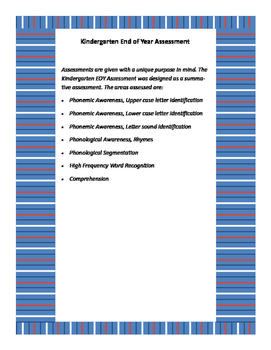 Kindergarten End of Year Assessment