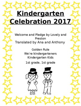 Kindergarten End of Year Celebration Letter to Parents