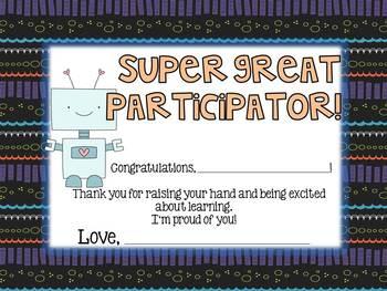 Kindergarten End of Year Class Awards