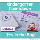 Kindergarten End of Year Countdown - It's in the Bag!
