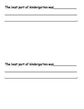 Kindergarten End-of-Year Journal Writing