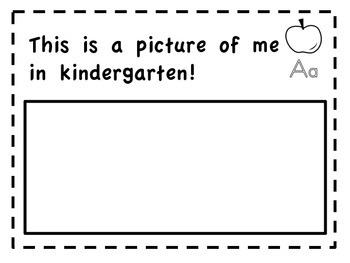 Kindergarten End of Year Memory Book