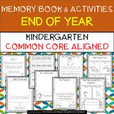 Kindergarten End of Year Memory Book and Activities