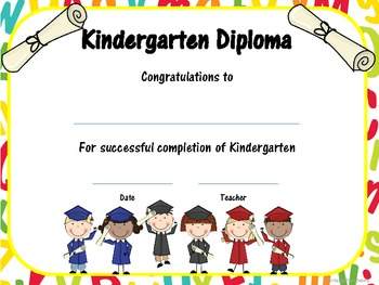 kindergarten end of year memory book and kindergarten diplomas by