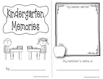 Kindergarten End of Year Mini-Book