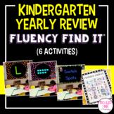 Kindergarten End of Year Review Fluency Find It